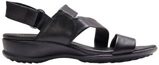 Wide Steps Caine Black Glove Sandal