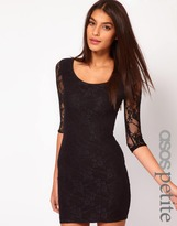 Asos Exclusive Lace Dress With Cut Out Back Detail