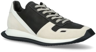 Rick Owens Leather Lace-Up Sneakers