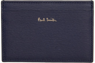 Paul Smith Navy Straw Grained Card Holder