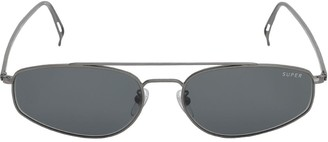 RetroSuperFuture Tema Silver Metal Sunglasses
