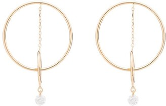 PERSÉE 18kt yellow gold Orbit double hoop diamond earrings