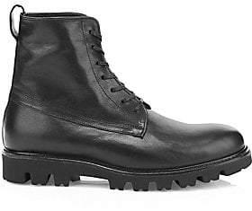 Vince Men's Commander Leather Combat Boots