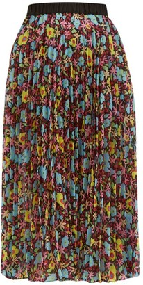 Romance Was Born Pop Life Semi-sheer Pleated Organza Midi Skirt - Womens - Multi