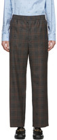 Gucci Grey Wool Symbols Check Trousers