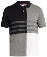 Moncler Gamme Bleu Contrast-panel cotton polo shirt