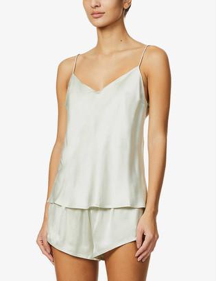 ASCENO Milos V-neck silk pyjama top