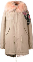 Mr & Mrs Italy - printed midi parka - women - Cotton/Leather/Polyamide - XXS