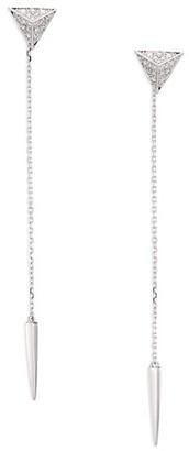 Marli Astrid Diamond & 18K White Gold Triangle Trix Drop Earrings