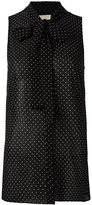 MICHAEL Michael Kors polka dot print shirt - women - Polyester - 2