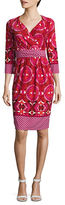 Adrianna Papell Plus Printed Back-Tie Dress