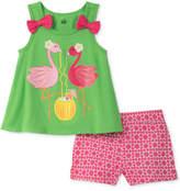 Kids Headquarters 2-Pc. Flamingoes Tank Top & Shorts Set, Toddler Girls