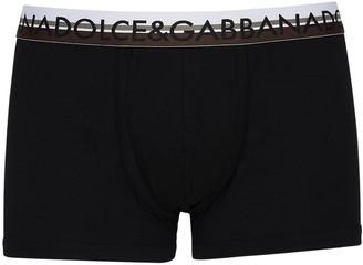 Dolce & Gabbana Logo Stretch Cotton Jersey Boxer Briefs