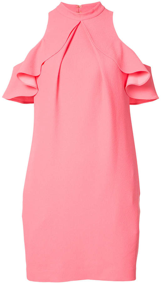 Trina Turk off-shoulder ruffle dress