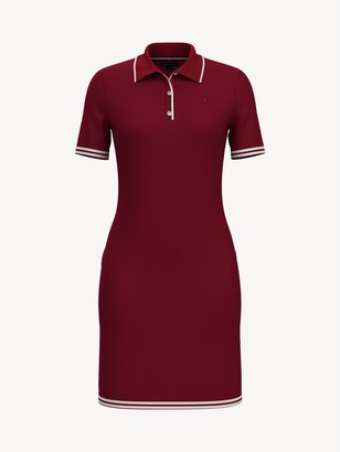 Tommy Hilfiger Essential Solid Ribbed Polo Dress