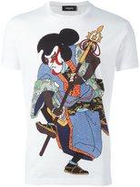 DSQUARED2 samurai print T-shirt