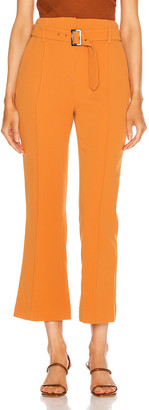 Jonathan Simkhai Florence Crepe Belted Pant in Toffee | FWRD