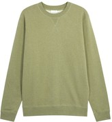 Sunspel Olive Cotton Sweatshirt