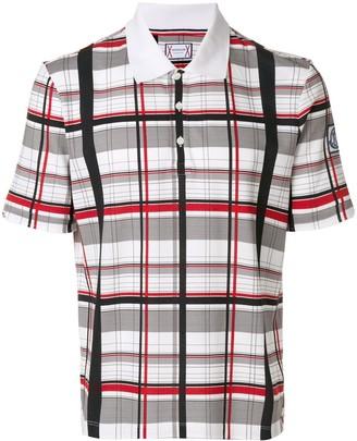Moncler plaid polo shirt