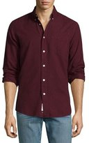 Rag & Bone Standard Issue Brushed Cotton Sport Shirt, Burgundy