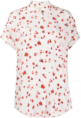 Paul Smith Silk Floral Short-Sleeve Shirt