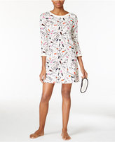 Kate Spade Printed Sleepshirt with Eye Mask