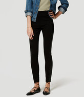 LOFT Tall Faux Leather Seamed Ponte Leggings