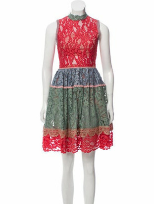 Alexis Vedette Lace Mini Dress w/ Tags Red