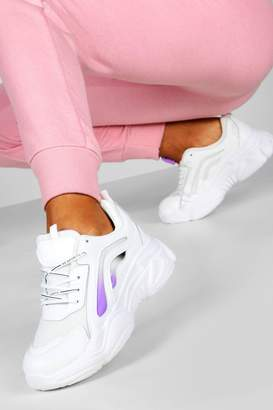 boohoo Colour Pop Chunky Sole Trainers