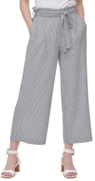 Calvin Klein Belted Wide-Leg Pants
