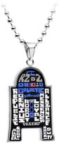 Star Wars Officially Licensed Stainless Steel Ball Chain R2-D2 Typed Pendant Necklace 22 Inch