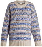 Stella McCartney Fair Isle oversized wool-knit jacquard sweater