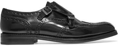 Church's Lana R Buckled Glossed-leather Brogues