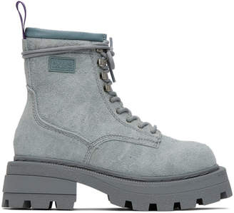 Eytys Blue Suede Michigan Boots