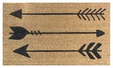 "Threshold Doormat Arrows Coir Ebony 18""x30"