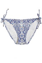 CALYPSO PRIVATE LABEL Royal Blue Aztec String Bikini Bottom