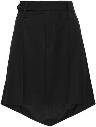 Joseph Asymmetric Wool-canvas Mini Skirt