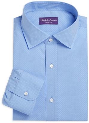 Ralph Lauren Purple Label Aston Micro Dot Dress Shirt