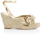 Loeffler Randall Charley Knotted Metallic Leather Espadrille Wedge Sandals