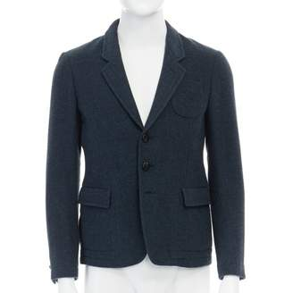 Mauro Grifoni Blue Wool Jackets