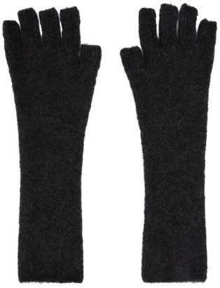 Isabel Benenato Grey Yak Fingerless Gloves