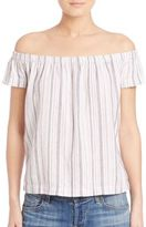 Bella Dahl Off-The-Shoulder Striped Top