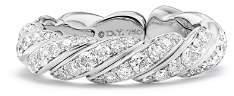 David Yurman Paveflex Band Ring with Diamonds in 18K White Gold
