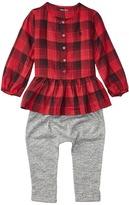 Ralph Lauren Yarn-Dyed Cotton Gauze Peplum Pants Set Girl's Active Sets