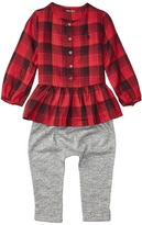 Ralph Lauren Yarn-Dyed Cotton Gauze Peplum Pants Set (Infant)