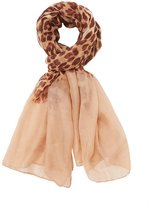 Charlotte Russe Leopard Print Oblong Scarf