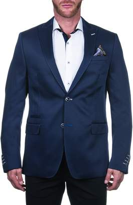 Maceoo Beethoven Regular Fit Scale Blue Sport Coat