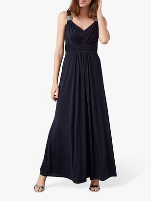 Phase Eight Odetta Embellished Dress, Navy