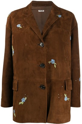 Miu Miu Floral Embroidered Jacket