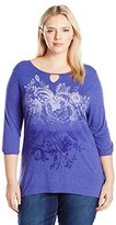 Just My Size Women's Plus Size Graphic Tunic